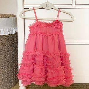 Gap chiffon ruffle dress